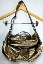 Kenneth Cole Reaction Purse Metallic Gold Foil Fold Over Bag Evening Party Shiny