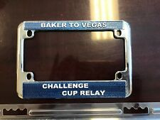 LAPD BAKER TO VEGAS MOTORCYCLE LICENSE PLATE FRAME. METAL. NEW.