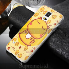 Cute Hami Cartoon Cat Samsung S5 SV Back Case Yellow Generic Pictorial Cover