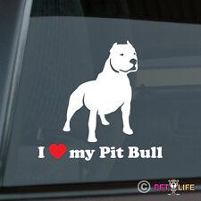 I Love My Pit Bull Sticker Die Cut Vinyl - Heart Pitbull VER 2