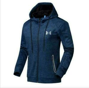 NEW Under Armour Men's Autumn Winter Hoodie Hooded Sweatshirt Coat zipper Jacket