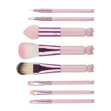 8pcs Cute Make up Cosmetic Kawaii Kitty Handle Powder Lip Brush set Pink Kids