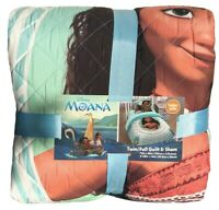 Disney Moana Quilt and Sham Set Twin/Full Quilted Comforter