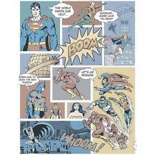 GALERIE SUPERMAN BATMAN FLASH COMIC SUPERHERO CHILDRENS WALLPAPER VINTAGE