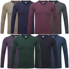 Charles Wilson Men's V Neck Soft Knitwear Jumper Sweater Pullover New 2015