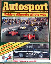 Autosport 3/5/84* BELGIAN GP - CIRCUIT of IRELAND - NEW TOLEMAN TG184 -LOLA T610