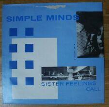 SIMPLE MINDS Sister Feelings Call LP/U.K.