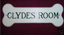 Custom Cast Dog Bone Name Plaque Sign