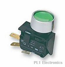ARCOLECTRIC C0911KBAAL Pushbutton Switch SPDT, Off-(On), 250 V, 16 A, Quick con