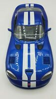 1/18 Diecast Burago Dodge Viper GTS Coupe Blue w/white stripe