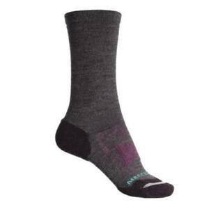 Merrell Women's 185192 Light Hiker Crew Cut Socks Shoes Black Marl Size S/M