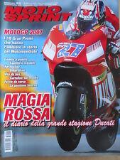 MOTOSPRINT n°46 2007 Numero Speciale MOTOGP 2007 Diario della stagione [P72]