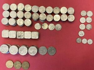 HUGE LOT Aruba 143.85 Florins!!! Foreign exchange/ collectable coins. 1f 25c 5f