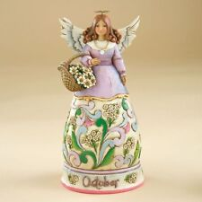 Jim Shore Birthstone & Flower Of The Month Angels-October