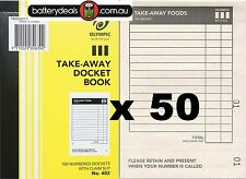 50 Olympic Restaurant take away Docket order books No402 Single 182639 #402