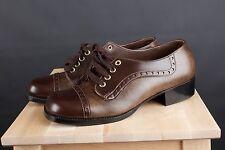 Vtg 70s Men's City Club Oxford Platform Shoes sz 8.5 D 1960s 1970s Disco #1739s