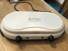 PORTABLE DOUBLE TWIN ELECTRIC HOT PLATE & WARMER WITH LID  JEAN PATRIQUE NEW