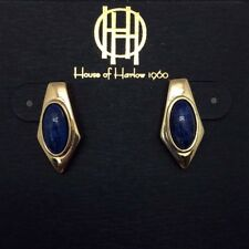 "NEW HOUSE OF HARLOW 1960 ""VALDA"" Stud Earrings in Lapis -SALE"