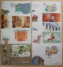 Macau 1997 Complete Set Souvenir Sheet S/S on 9 FDC 澳门一九九七年发行全套小型张首日封共9个