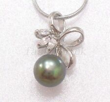 Flowers Plants Pearl Round Costume Necklaces & Pendants