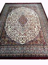Vintage Red Grey Area Rug Floral Carpet Size-8 x 6 Feet