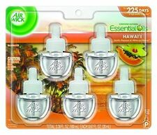 Air Wick Scented Oil Refill Hawaii Exotic Papaya & Hibiscus Flower 5 refills