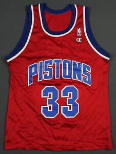 Grant Hill Detroit Pistons Vintage 90's Champion NBA Jersey Size 40 Red