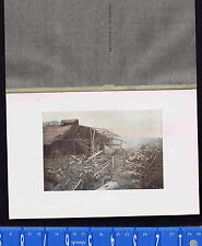 Wreckage from the 1896 Sanriku earthquake  -1902 Japan Lithograph