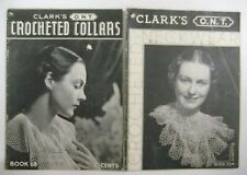 Vintage 1930's Lot CROCHETED COLLARS Pattern Booklets Clark's O.N.T. Neckwear