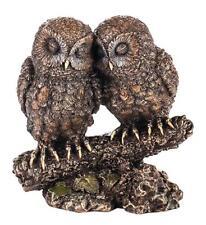 Figurine Animal couple owls Statue Veronese Bronze