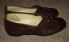 BRUNATE QUALITY LADIES BROWN CHOCOLATE SHOES  UK 5 SLIP ON SUEDE & LEATHER ER 38