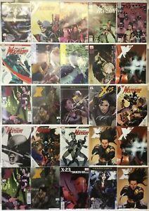 All New Wolverine X-23 Marvel 25 Lot Comic Book Comics Set Run Collection Box