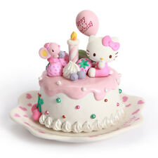 Taiwan JARLL Hello Kitty Birthday Macarons Cake Figures Ceramic Music Box Gift