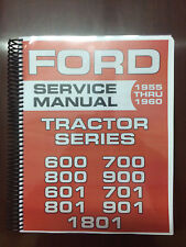 Ford 600 700 800 900 601 701 801 901 1801 Tractor Service Manual Shop Manual