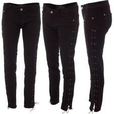Vaqueros de mujer ajustado color principal negro 100% algodón