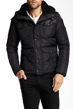 Diesel wessienok Nylon Cuir à capuche Down Jacket taille XXL 100% Authentique