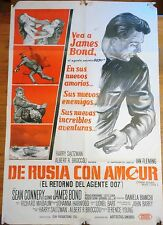 FROM RUSSIA WITH LOVE (1963) ORIGINAL ARGENTINA MOVIE POSTER - JAMES BOND 007