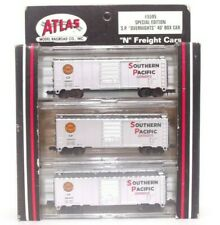 Atlas N SP Southern Pacific Overnight 40' Train Freight Box Car Set 3 Pack #5595