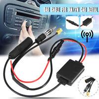 DAB FM AM Aktiv Antenne Splitter Adapter Kabel Radio Verstärker für Auto !