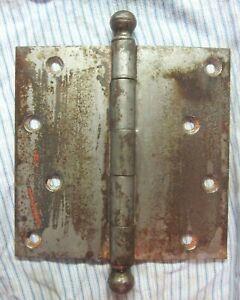 """Stanley Sweetheart SW 6"""" Mortise Door Butt Hinge Ball Tips Finials Steel Antique"""