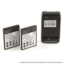 2 x 1800mAh Battery for Samsung Galaxy S II 2 i9100 International  Dock Charger
