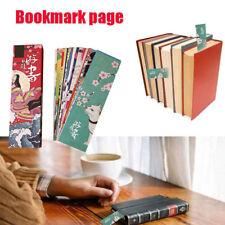 30PCS/Set Paper Bookmark Japanese Style Vintage Kawaii Book Memo Multicolor