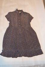 c212e2af6e Sandro Paris Floral Leafy Navy Silk Button Up S S Dress Womens Size 1 EU36