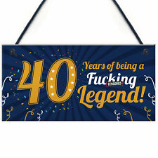 Funny 40th Birthday Present For Men Women 50th Card Female Male Plaque