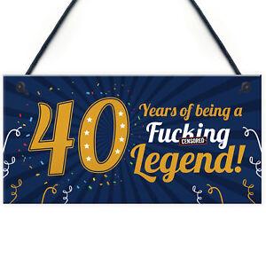 Funny 40th Birthday Present For Men Women 50th Birthday Card Female Male Plaque