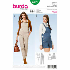 Burda Sewing Pattern 6599 Misses 6-18 Bib and Brace Overalls Long or Short