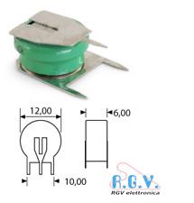 Batteria ricaricabile NI-MH 1,2V 40mAh circuito stampato 12x6mm a saldare su PCB