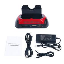 SATA IDE HDD USB Dual Dock Docking Station ESATA OTB HUB Card Reader DS-0026