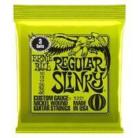 3 SET DI ERNIE BALL SUPER & regolare Corde per chitarra elettrica Slinky