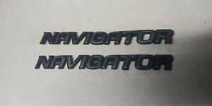 Cv1998-02 OEM Lincoln Navigator Emblem Badge Nameplate SET OF TWO  SHIPS FREE